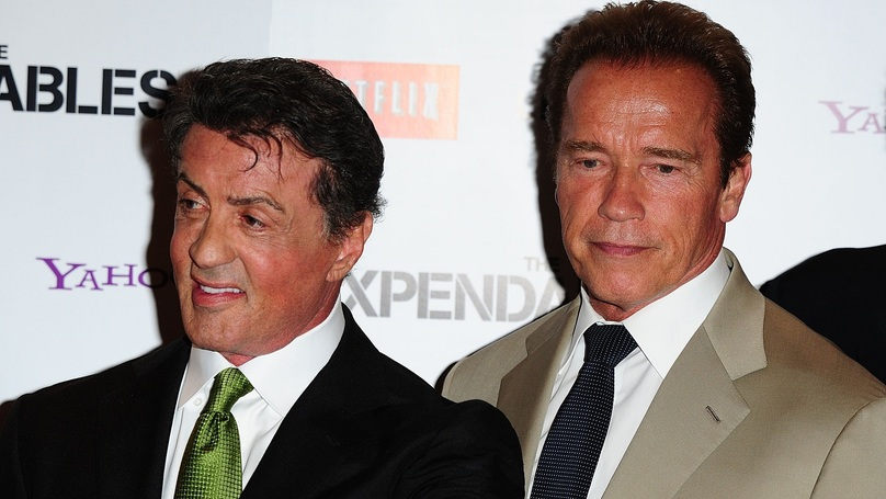 ​Sly Stallone And ​Arnold Schwarzenegger Hang Out On Christmas Day