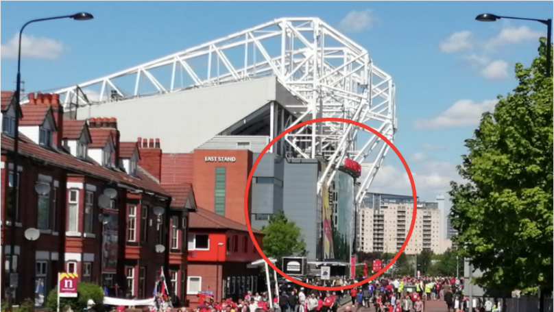 The Most 'Ironic' Poster Spotted Outside Old Trafford At Last Game Of The Season