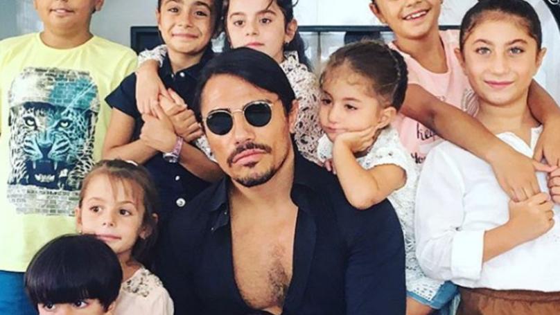 Salt Bae Shows Off His Nine Kids In Instagram Post