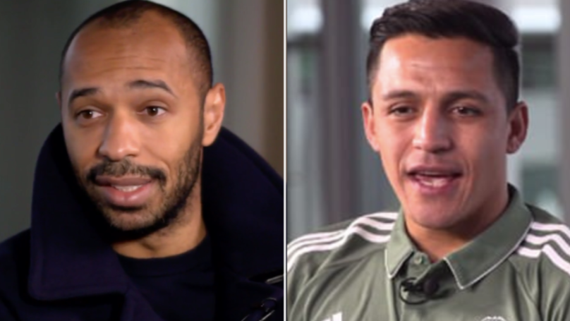 Thierry Henry Tells Alexis That Man City Have Almost Won The League, Sanchez Responds