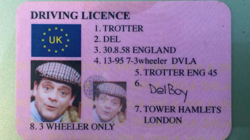 Police Stop 'Plonker' Driver With A Fake 'Del Boy' Driving Licence