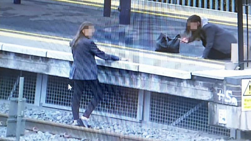 Two Schoolgirls Risk Their Lives Posing For Selfies On Train Tracks