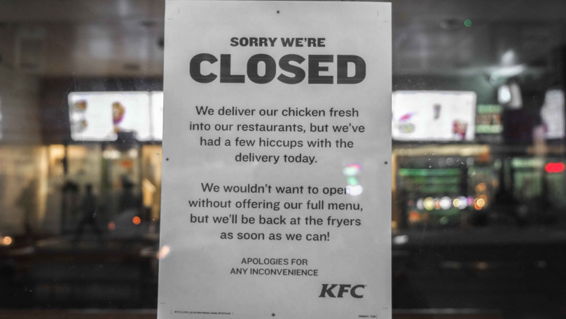 People Are Calling The Police Because KFC Is Out Of Chicken