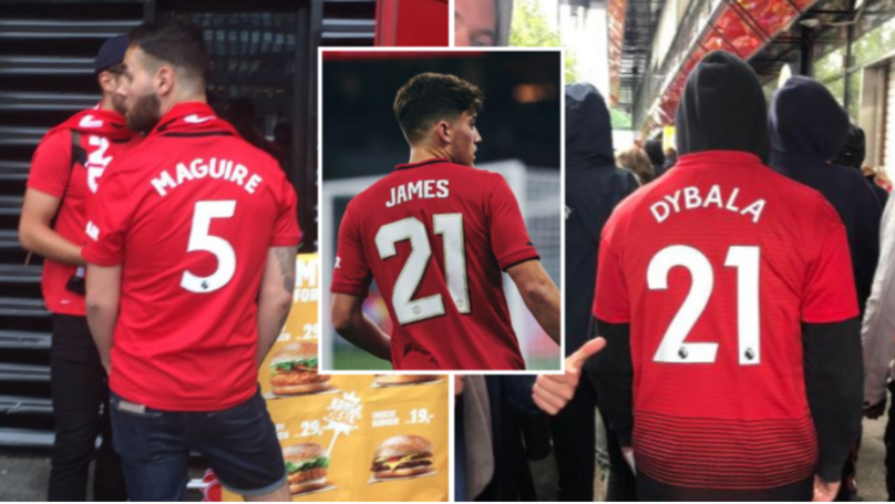 Manchester United Fans Were Apparently Wearing 'Maguire 5' And 'Dybala 21' At Friendly In Norway Last Night