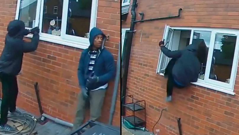 Two Burglars Were Caught On CCTV Robbing House