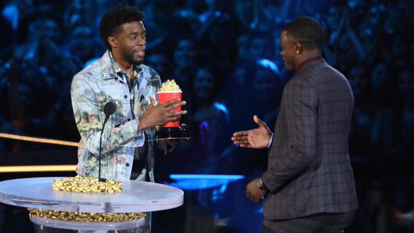 Chadwick Boseman Gives Away 'Best Hero' Award To Actual Hero James Shaw Jr