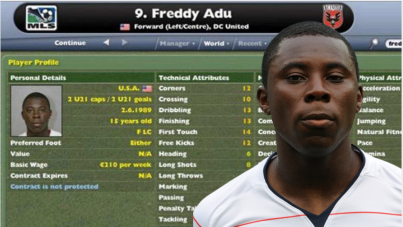 Freddy Adu Voted The Greatest Football Manager Wonderkid Of All Time