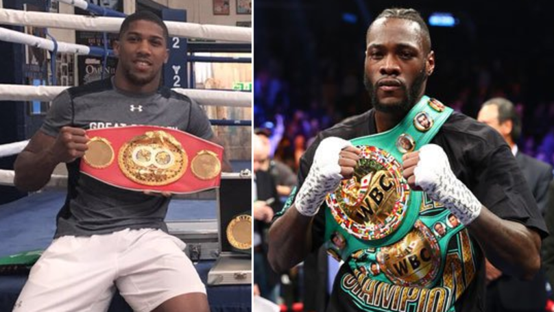 Anthony Joshua Hints At Deontay Wilder Fight, Sends Cryptic Tweet