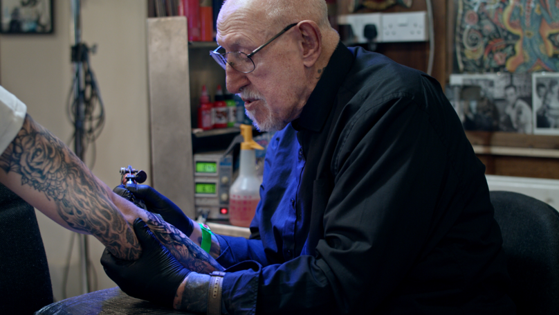 UK's Oldest Tattooist Still Hard At Work Aged 86