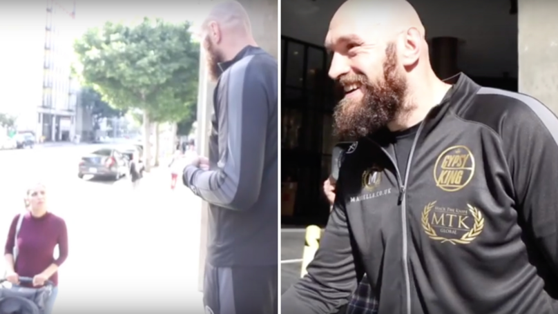 Fury Takes To Streets Of LA, Asks Americans If They Know Who Wilder Is