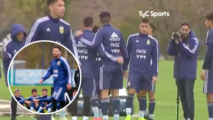 Youngsters Are Starstruck After Meeting Lionel Messi During Training Session With Argentina