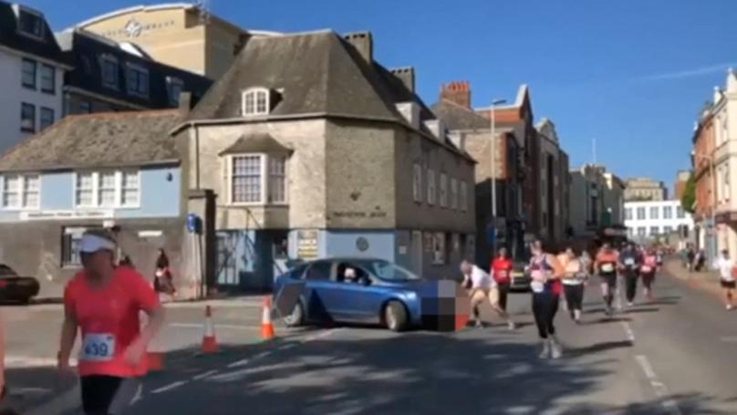 Woman Drives Through Plymouth Half Marathon And Causes Absolute Chaos