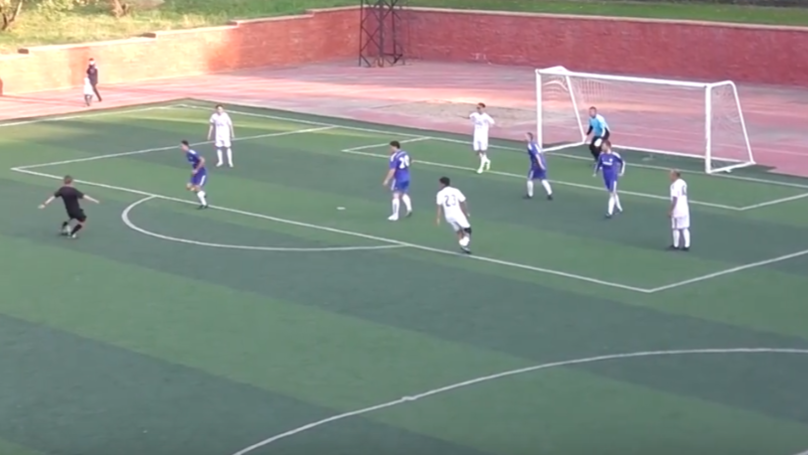 Referee Gets Bored And Decides To Wallop One Into The Top Bins