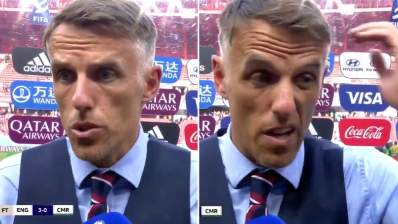 Phil Neville Nails Post-Match Interview Following England's Controversial Women's World Cup Match Against Cameroon