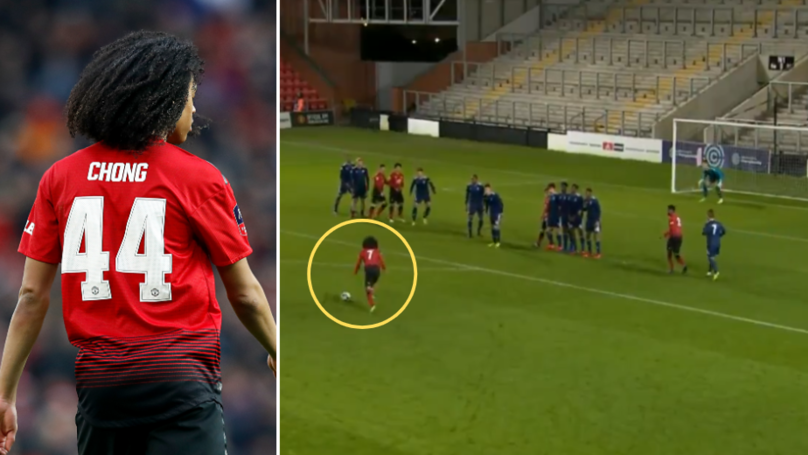 Tahith Chong Scores Magnificent Free-Kick For Manchester United Under-23's