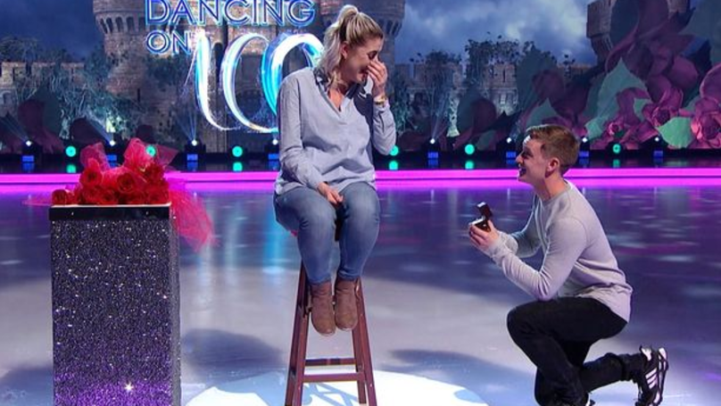 'Dancing On Ice' Crew Member Proposes To Girlfriend During Show