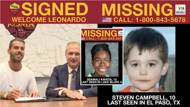 Roma Are Using Summer Signing Videos To Raise Awareness For Missing Children