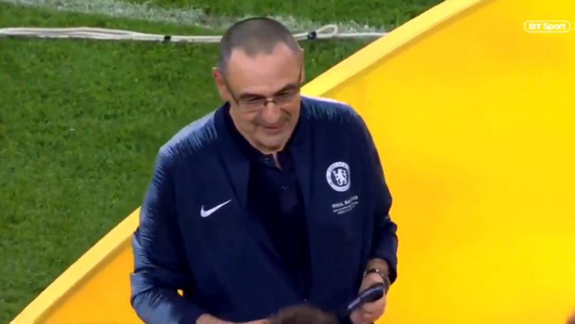 Maurizio Sarri Collecting His Europa League Medal Is The Most Wholesome Thing