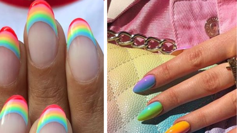 These Rainbow Nail Tips Are Perfect For Summer