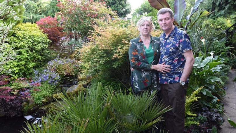 Couple Spend £12,000 Transforming Back Garden Into 'Tropical Fantasy'