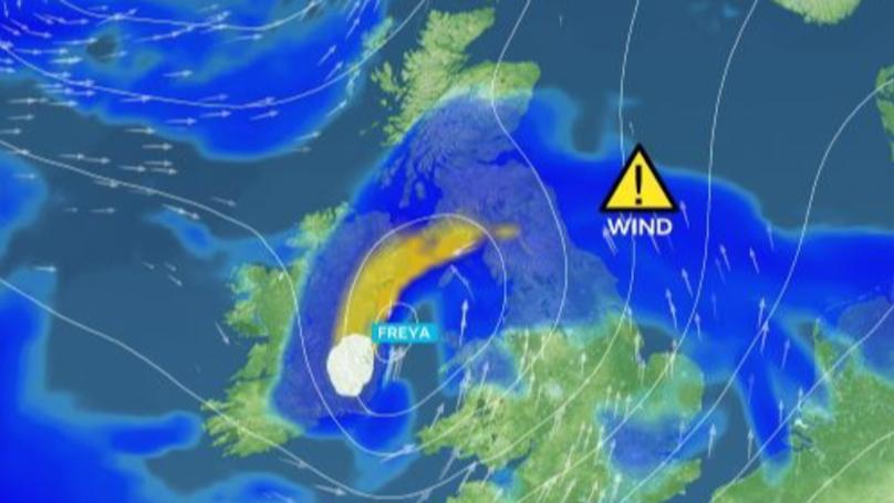 Met Office Issues 'Danger To Life' Warning As Storm Freya Hits UK