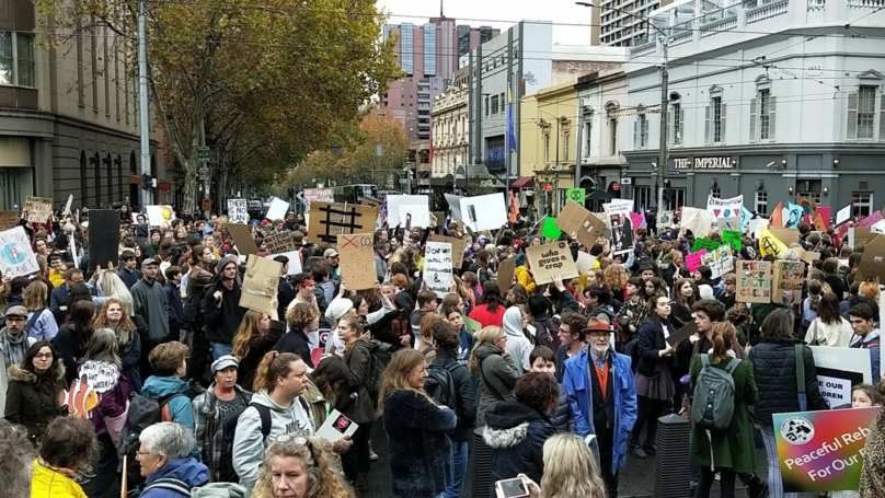 Thousands Shut Down Melbourne CBD For Climate Change Protest