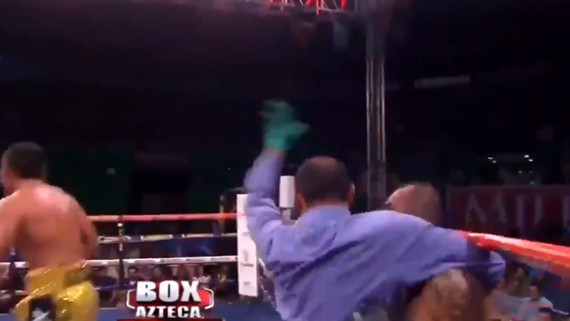 Aaron Herrera Wins With One Of The Worst Stoppages Of All Time
