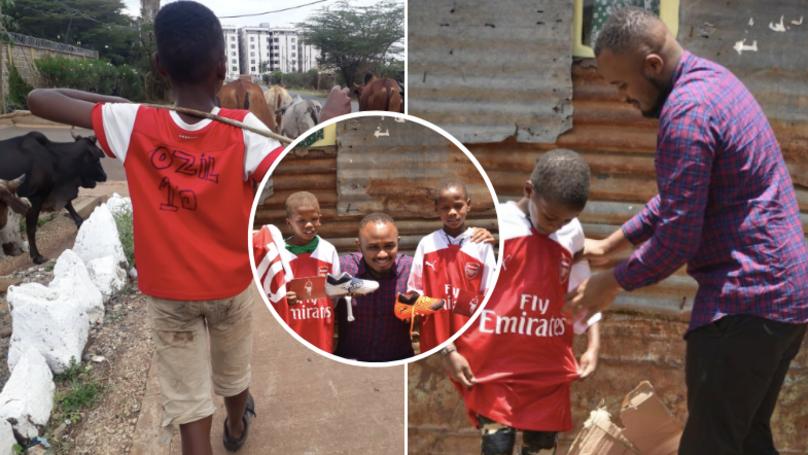 Mesut Ozil Sends Arsenal Shirt To Kenyan Boy And Family Who Wore Homemade Kit