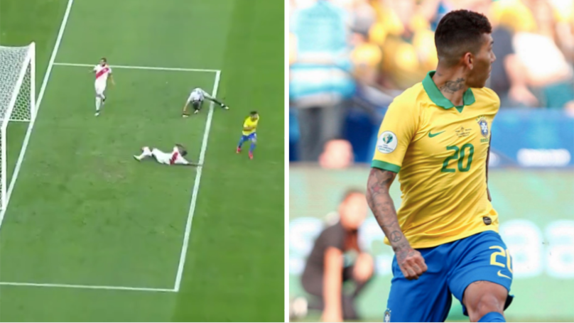 Roberto Firmino Produces Cheeky Trademark 'No Look' Finish In Copa America