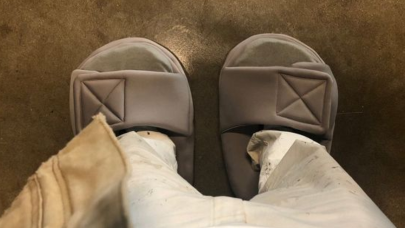 Kanye West Trolls Himself Over 'Too Small' Slides