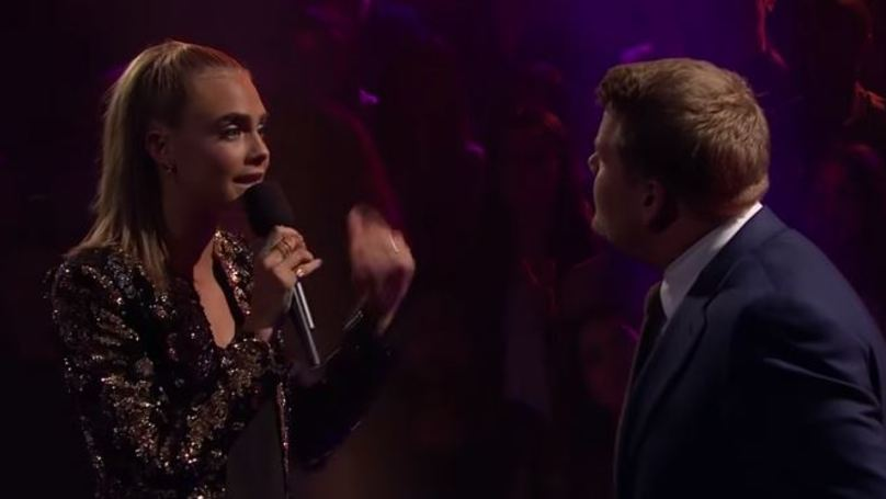 Cara Delevingne Completely Ripped James Corden A New One Yesterday