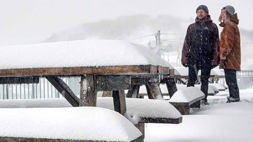 Aussie Ski Spots Have Copped An Absolute Dumping Over The Weekend