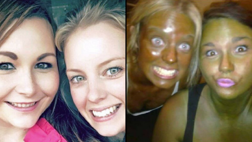 Friends Go For First Spray Tan And Come Out Bright Green