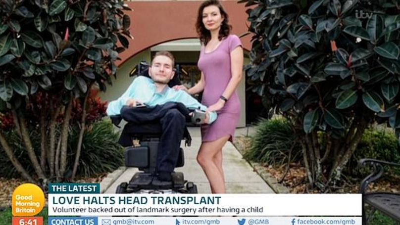 Man Who Agreed To Head Transplant Put Off By New Wife And Baby