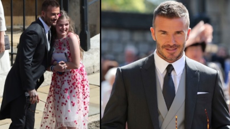 Royal Wedding 2018: David Beckham Stops For Photo With Manchester Arena Bombing Survivor