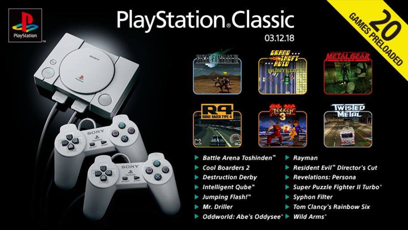 Sony Unveils Impressive 20 Game Roster For PlayStation Classic, A PS1 Remake