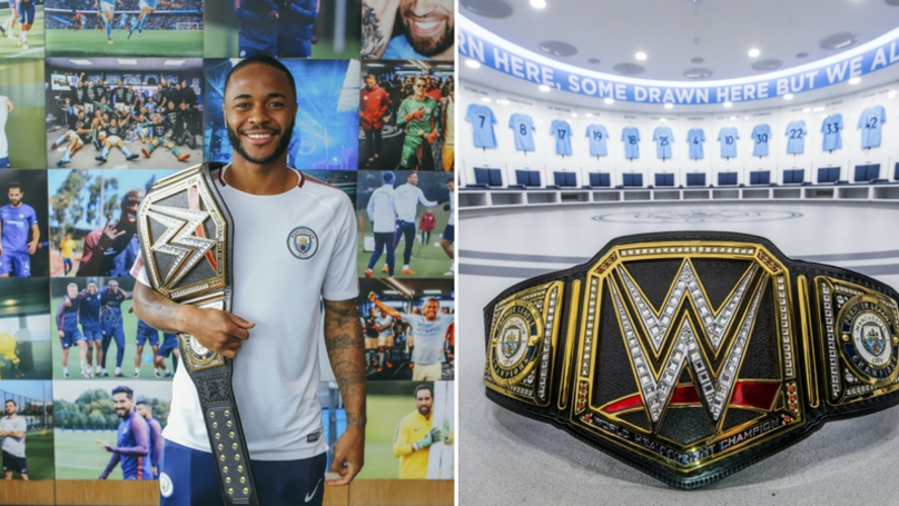 Triple H Awards Manchester City With Exclusive WWE Title Belt