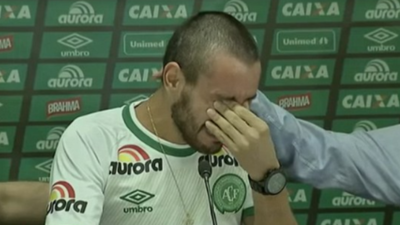Chapecoense Disaster Survivor Breaks Down In Tears During Emotional Interview
