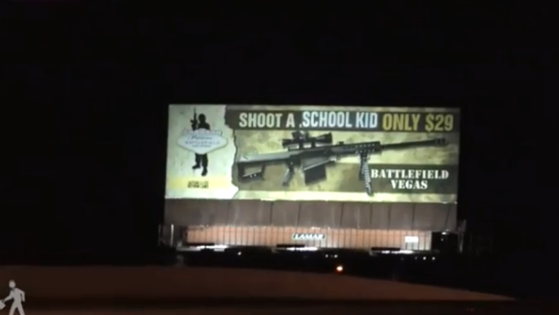 Activists Make Shocking 'Shoot a School Kid' Billboard In The US