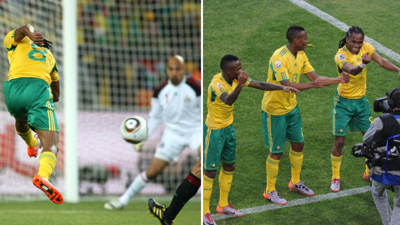 Try And Not Get Goosebumps Watching Siphiwe Tshabalala's Goal Against Mexico