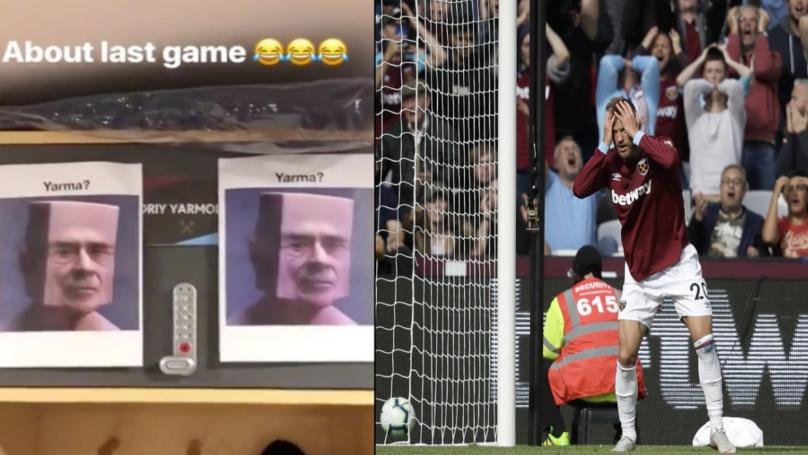 West Ham Players Hilariously Troll Andriy Yarmolenko For Chelsea Miss