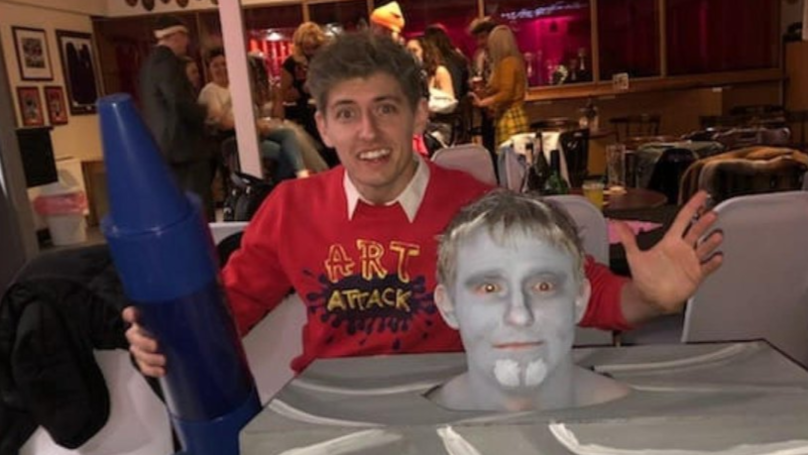 Pals Create 'Art Attack' Halloween Costume And It Is Excellent