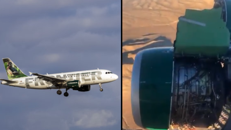 Passengers Go Nuts As Airplane Engine Falls Apart During Their Flight