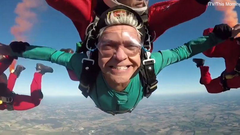 Phillip Schofield Dramatically Skydives Into This Morning On National TV