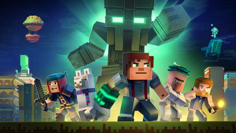 """的游戏的""""互动""""Minecraft:故事模式现在Netflix上播放"""