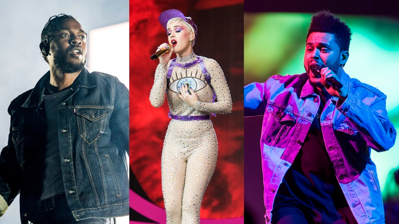 Kendrick Lamar, Katy Perry And The Weekend Top MTV VMA Nominations