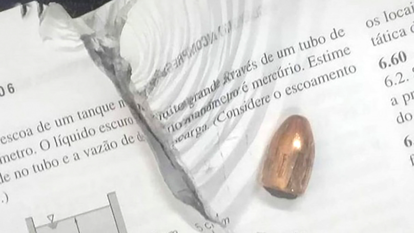 Student Finds School Books Stopped Bullet During Gang Attack In Brazil