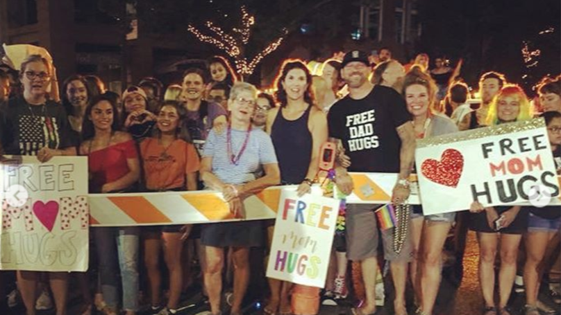 Christian Group Offers 'Free Mom Hugs' At Austin Pride Parade
