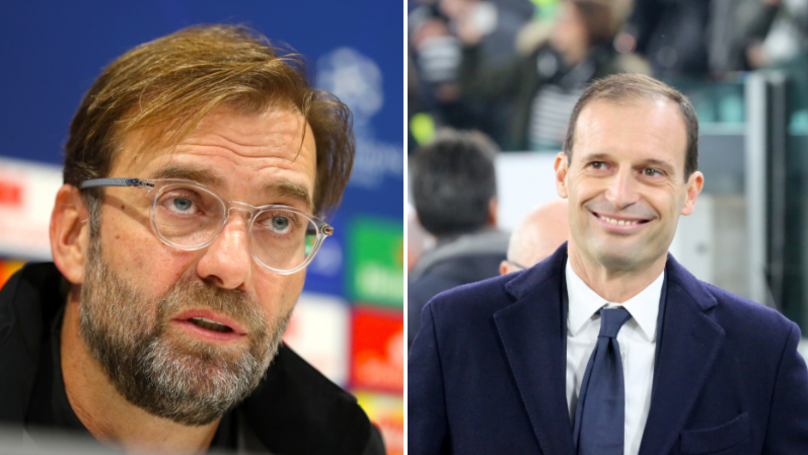 Max Allegri Has Taken A Dig At Jurgen Klopp With Twitter 'Like'
