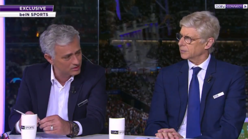 Jose Mourinho And Arsene Wenger Were A Dynamic Duo As Champions League Pundits